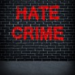 Hate Crime — Stock Photo