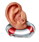 保存您的听力 — 图库照片