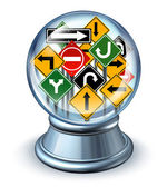 Direction Forecast — Stock Photo