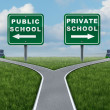 Stock Photo: Public And Private School Choice