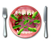 Food Poisoning Illness — Stock Photo