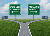 Public And Private School Choice — Stock Photo