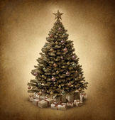 Old Fashioned Christmas Tree — Stock Photo