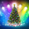 Stock Photo: Christmas Spotlights
