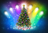 Christmas Spotlights — Stock Photo