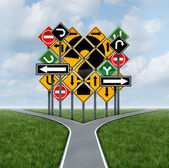 Confusing Direction Decision — Stock Photo
