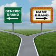 Stock Photo: Generic Brand Versus Brand Name