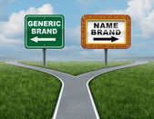 Generic Brand Versus Brand Name — Stock Photo