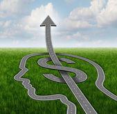 Finance Growth Path — Stock Photo
