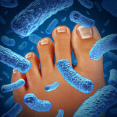 Foot Bacteria — Stock Photo