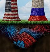 USA Russia Cooperation — Stock Photo