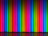 Rainbow Curtain on Theater Stage — Stock Photo