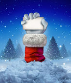Santa Claus Winter Sign — Stock Photo