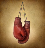 Boxing Gloves Grunge — Stock Photo