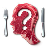 Eating Meat Questions — Stock Photo