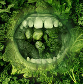 Eating Green — Stock Photo
