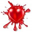 Heart Splatter — Stockfoto
