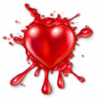 Heart Splatter — Stock Photo