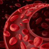 Blood Cells Circulation — Stock Photo
