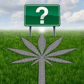 вопросы каннабис марихуаны — Стоковое фото