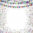 Bunting Flags Confetti Frame — Stock Photo