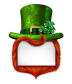 Leprechaun Blank Sign — Stock Photo