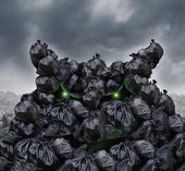Garbage Monster — Stock Photo