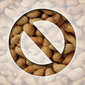 No Peanuts — Stock Photo
