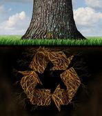 Tree Recycle Symbol — Stock Photo