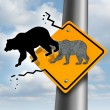 Stock Photo: Bear Market Decline