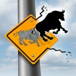 Stock Photo: Bull Market Rise