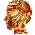 Unhealthy Diet — Stock Photo