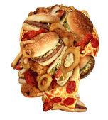 Ungesunde ernährung — Stockfoto
