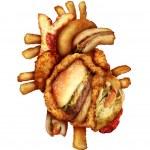 Dangerous Heart Diet — Stock Photo