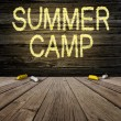 Summer Camp Sign — Foto de Stock