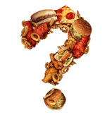 Fast Food Questions — Stock Photo