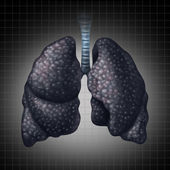 Human Lung Disease — Stock Photo