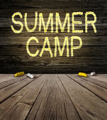 Summer Camp Sign — Stock Photo