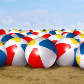 Beach Ball Background — 图库照片