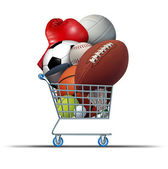 Sports Equipment Shopping — Stock Photo