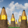 Pencil Tree Concept — Stock Photo