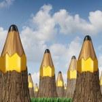 Pencil Tree Concept — Stock Photo