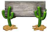 Cactus Sign — Stock Photo