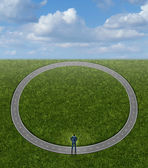 Going In Circles — Stock Photo