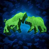 Stock Market Bull And Bear — Stock Photo