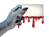 Zombie Blood Card — Stock Photo