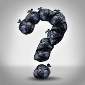 Garbage Questions — Stock Photo