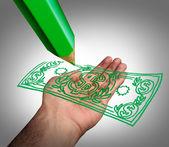 зарабатывание денег — Стоковое фото