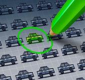 Green Car Choice — Stock Photo