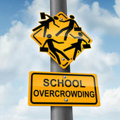 School Overcrowding — Stock Photo